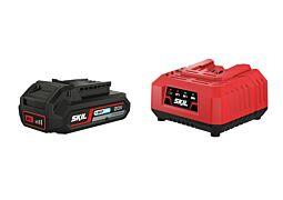 SKIL Batterie (Li-Ion 20V Max (18 V) 2,0 Ah « Keep Cool™ ») et chargeur