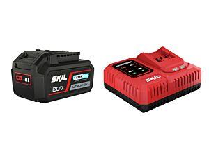 SKIL 3111 AA Batterie (Li-Ion 4,0 Ah « 20V Max » (18 V) « Keep Cool ») et chargeur « Rapid »