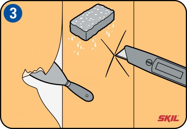 behang verwijderen en afstomen