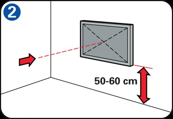 ideale hoogte tv slaapkamer flatscreen tv ophangen aan de muur