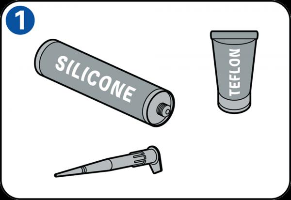 Siliconenkit aanbrengen met een kitpistool